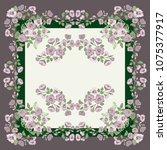 scarf floral print. russian...   Shutterstock .eps vector #1075377917