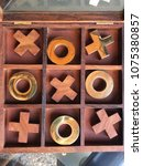 Small photo of Games , puzzles , brain games , wooden tic tax toe