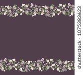 gorgeous border in small garden ...   Shutterstock .eps vector #1075383623