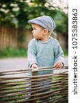 baby boy 1 2 years old... | Shutterstock . vector #1075383863
