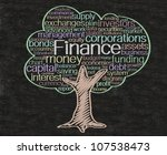 finance concept and words tag... | Shutterstock . vector #107538473