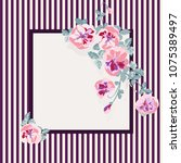square frame from wild charming ...   Shutterstock .eps vector #1075389497