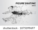 figure skating. the girl is... | Shutterstock .eps vector #1075399697