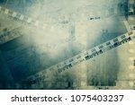 film negative frames on grunge...   Shutterstock . vector #1075403237