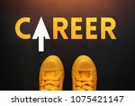 career seeker looking for a job ... | Shutterstock . vector #1075421147