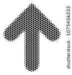halftone hexagonal arrow... | Shutterstock .eps vector #1075436333