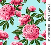 seamless pattern with pink... | Shutterstock .eps vector #1075463927