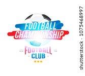 football championship. banner... | Shutterstock .eps vector #1075468997
