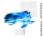 blue brush stroke and texture.... | Shutterstock .eps vector #1075475363