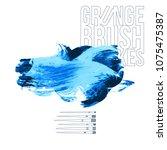 blue brush stroke and texture.... | Shutterstock .eps vector #1075475387