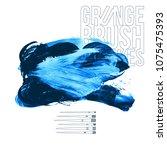 blue brush stroke and texture.... | Shutterstock .eps vector #1075475393