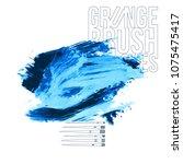 blue brush stroke and texture.... | Shutterstock .eps vector #1075475417