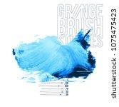blue brush stroke and texture.... | Shutterstock .eps vector #1075475423
