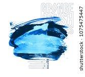 blue brush stroke and texture.... | Shutterstock .eps vector #1075475447