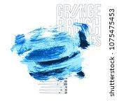 blue brush stroke and texture.... | Shutterstock .eps vector #1075475453