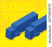 truck isometry illustration ...   Shutterstock .eps vector #1075493573
