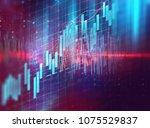 financial stock market graph on ... | Shutterstock . vector #1075529837