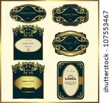 gold framed labels vector set. ...   Shutterstock .eps vector #107553467