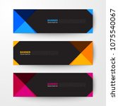 modern geometrics banners web... | Shutterstock .eps vector #1075540067
