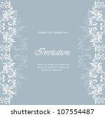 vintage damask floral... | Shutterstock .eps vector #107554487