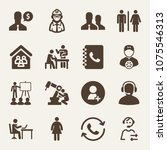 people filled vector icon set...   Shutterstock .eps vector #1075546313