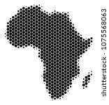halftone circle africa map....