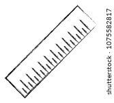 grunge precision centimeter... | Shutterstock .eps vector #1075582817