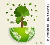 eco friendly. ecology concept... | Shutterstock .eps vector #1075585457