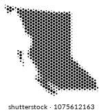 halftone hexagonal british... | Shutterstock .eps vector #1075612163