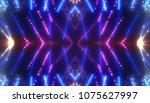 bokeh light blue abstract... | Shutterstock . vector #1075627997