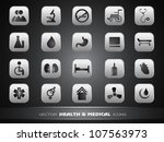 medical icons set isolated on... | Shutterstock .eps vector #107563973