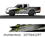 pickup truck graphic vector.... | Shutterstock .eps vector #1075661297