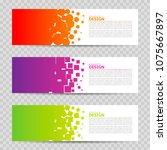 web banner design background...   Shutterstock . vector #1075667897