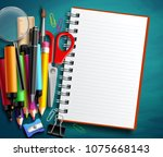 back to school vector... | Shutterstock .eps vector #1075668143