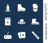 premium set with fill icons.... | Shutterstock .eps vector #1075673777