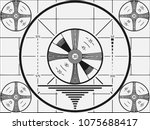 retro television test pattern... | Shutterstock .eps vector #1075688417