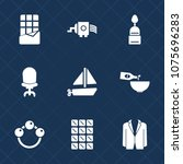 premium set with fill icons.... | Shutterstock .eps vector #1075696283