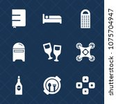 premium set with fill icons.... | Shutterstock .eps vector #1075704947