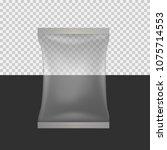 transparent food snack pillow...   Shutterstock . vector #1075714553