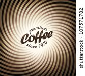 Abstract coffee background design template. Vector, EPS10 - stock vector
