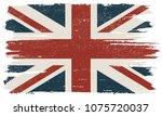 vintage flag of united kingdom... | Shutterstock .eps vector #1075720037