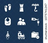 premium set with fill icons.... | Shutterstock .eps vector #1075741247