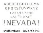 font. alphabet. script.... | Shutterstock .eps vector #1075755443