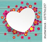 colored flowers with paper... | Shutterstock .eps vector #1075761257