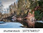 classic sandstone crag over... | Shutterstock . vector #1075768517