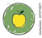 apple icon vector illustration...   Shutterstock .eps vector #1075774877