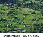 carpatian mountains summer... | Shutterstock . vector #1075775357