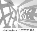 futuristic white architecture...   Shutterstock . vector #1075779983