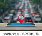 map pin location button on... | Shutterstock . vector #1075781843