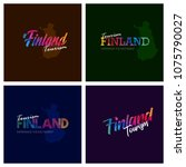 tourism finland typography logo ... | Shutterstock .eps vector #1075790027
